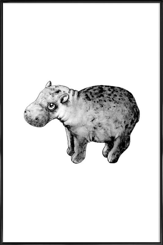 Hippo affiche encadrée