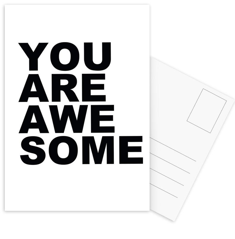 You Are Awesome Postcard Set
