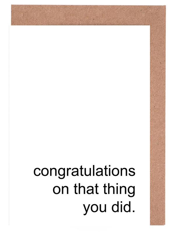 Congratulations on That Thing cartes de vœux