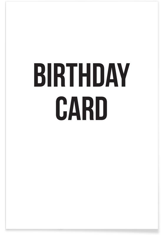 birthday card Poster