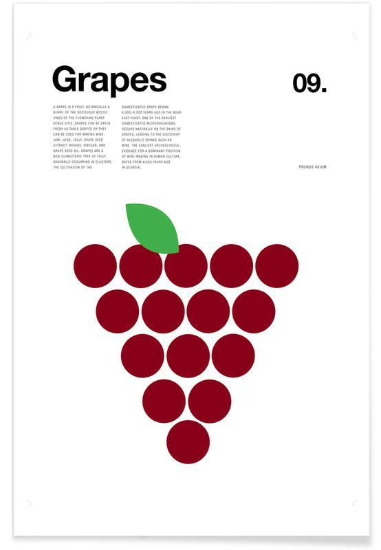 Raisin rouge minimaliste affiche