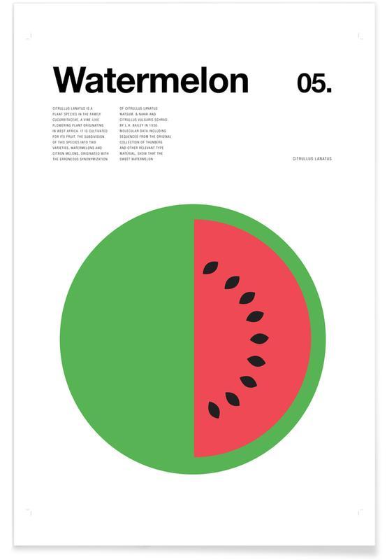 Pastèque minimaliste affiche