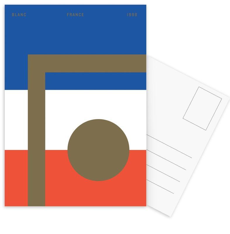 Blanc -Postkartenset
