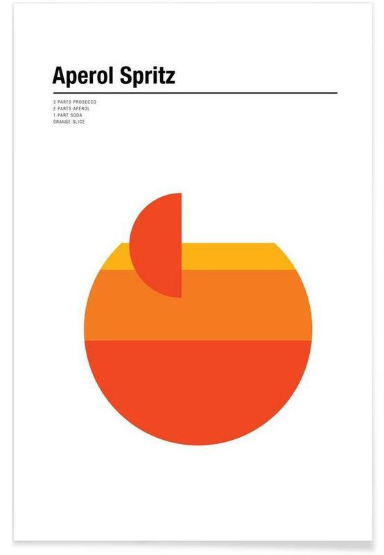 Aperol Spritz – minimalistisch -Poster