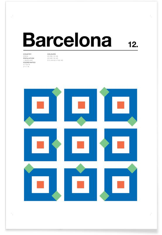 Minimalist Barcelona Poster