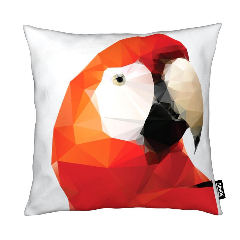 Geo Parrot Red coussin