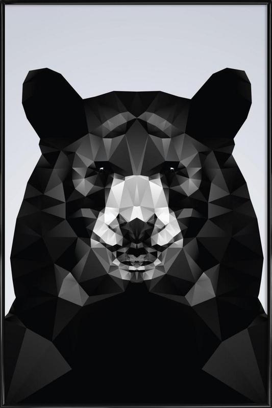 Geo Black Bear affiche encadrée