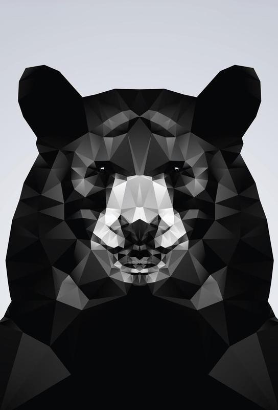 Geo Black Bear Impression sur alu-Dibond