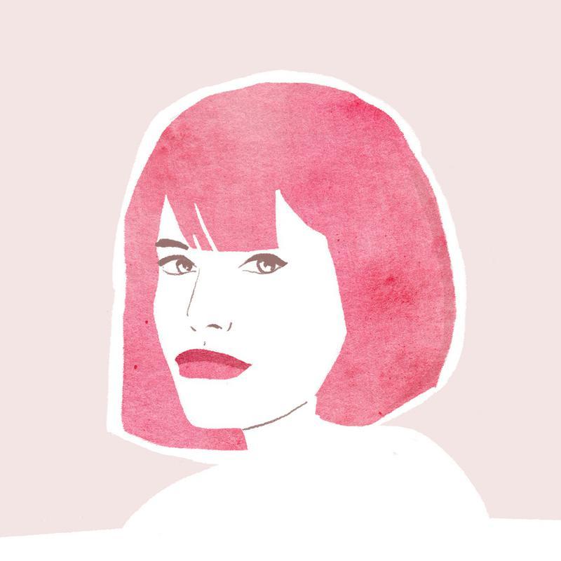Pink Hair Girl Canvas Print