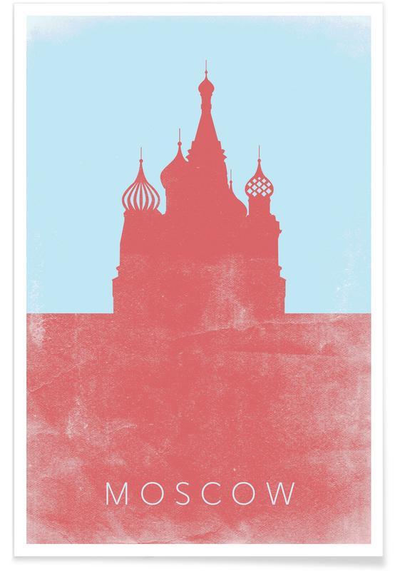 Red Square Minimalist Poster