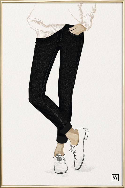 BB Shoes -Poster im Alurahmen