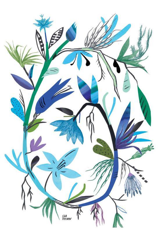 Botanica Clematis White Impression sur alu-Dibond
