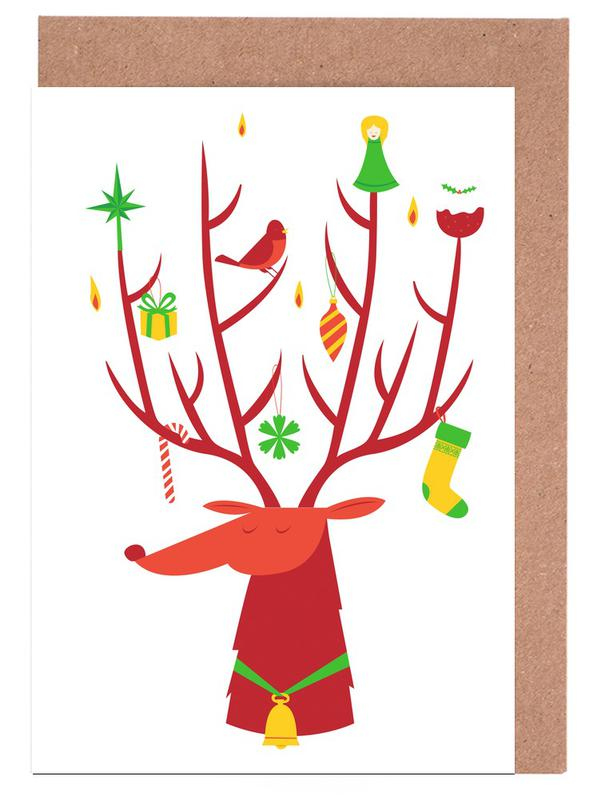 Reindeer Greeting Card Set
