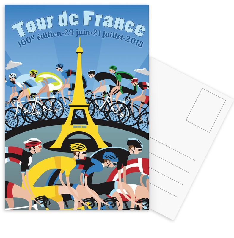 Tour de France cartes postales