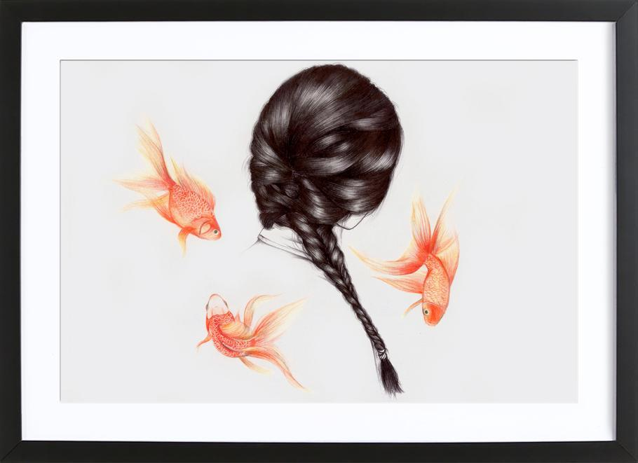 Fish Hair 1 Framed Print