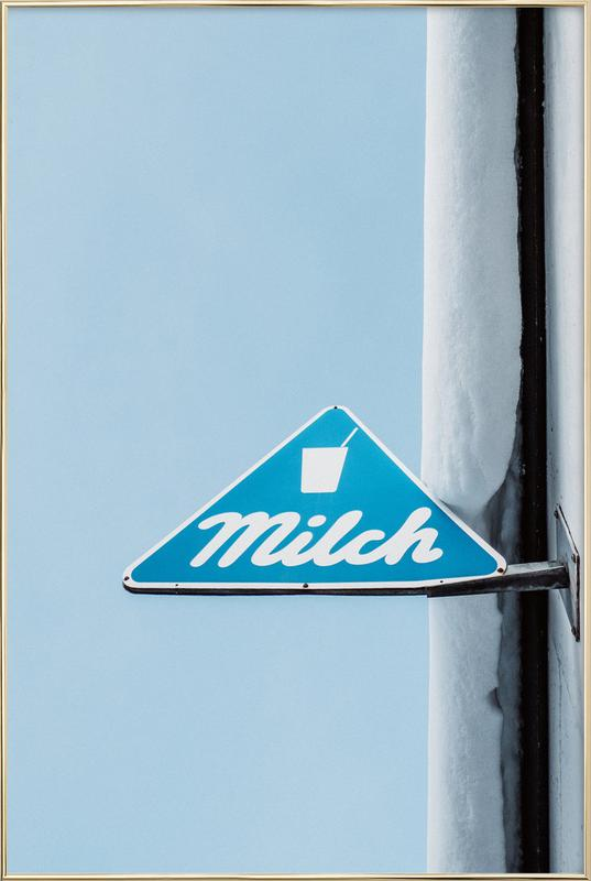 Milch Poster in Aluminium Frame
