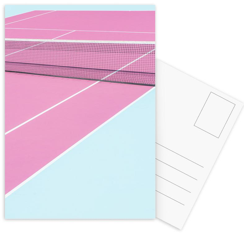 Pink Court - Net -Postkartenset