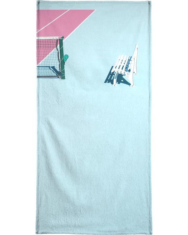 Pink Court - Bench Beach Towel
