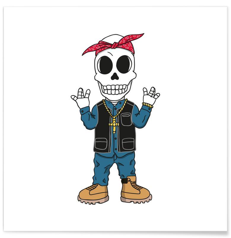 West Coast Skull affiche