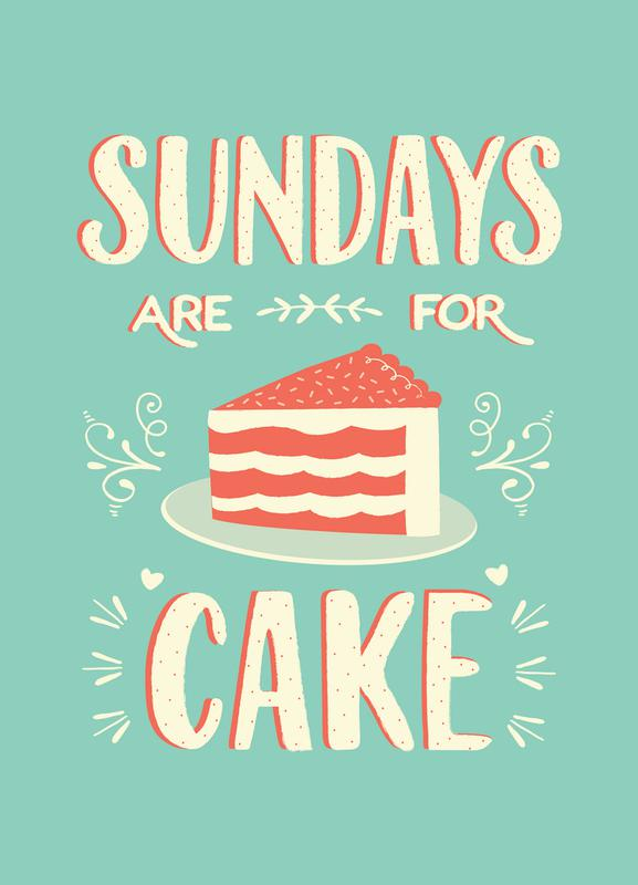 Sundays Are For Cake Canvas Print