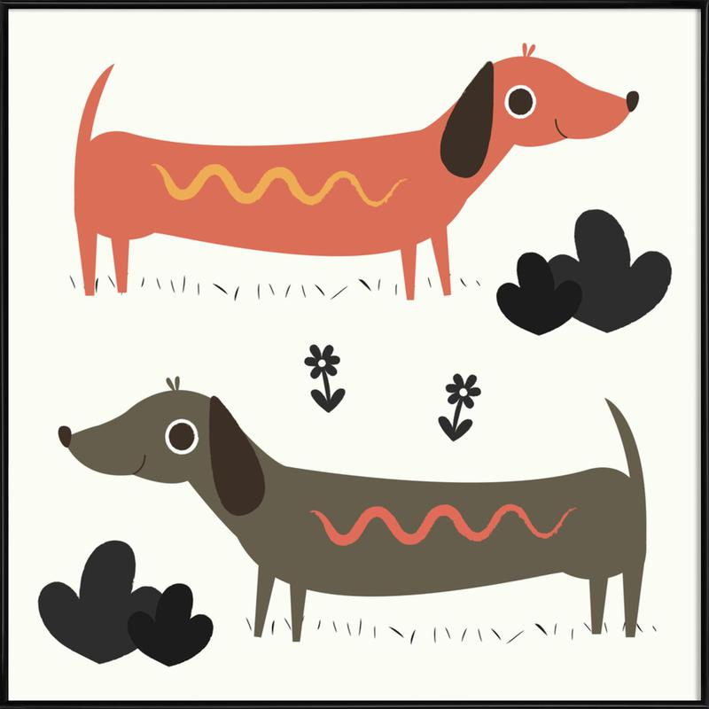 Wiener Dogs Framed Poster