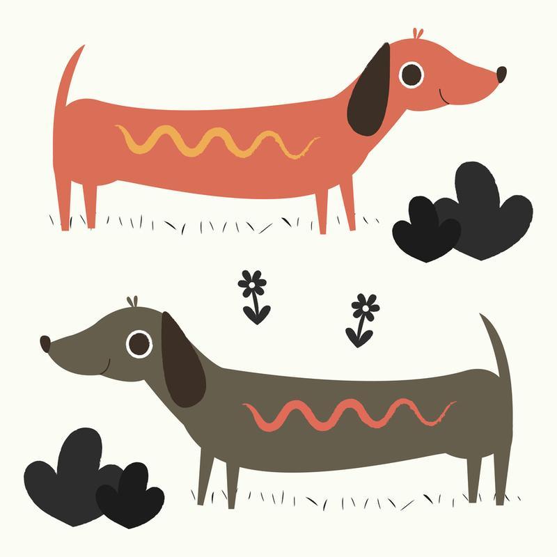 Wiener Dogs Canvas Print
