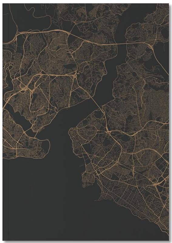 Traffic Istanbul Brown Notebook