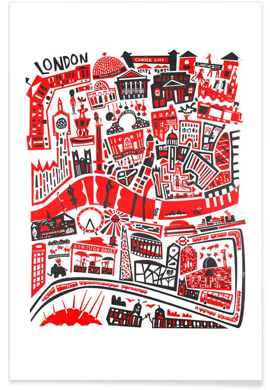Busy London Map Poster