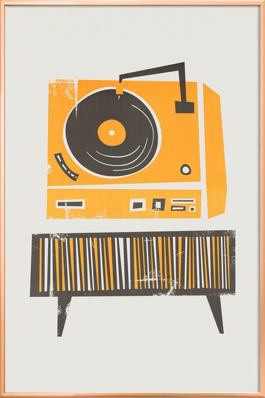 Vinyl Junkie Poster in Aluminium Frame