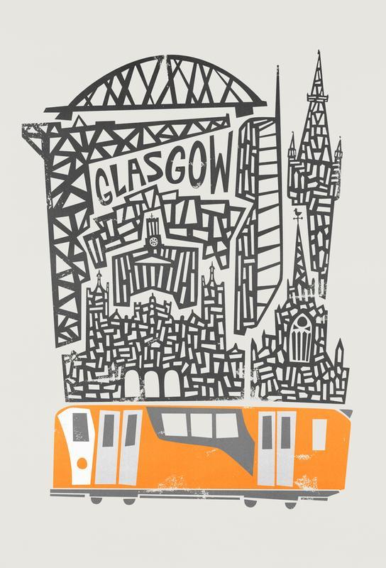 Glasgow Cityscape Acrylic Print