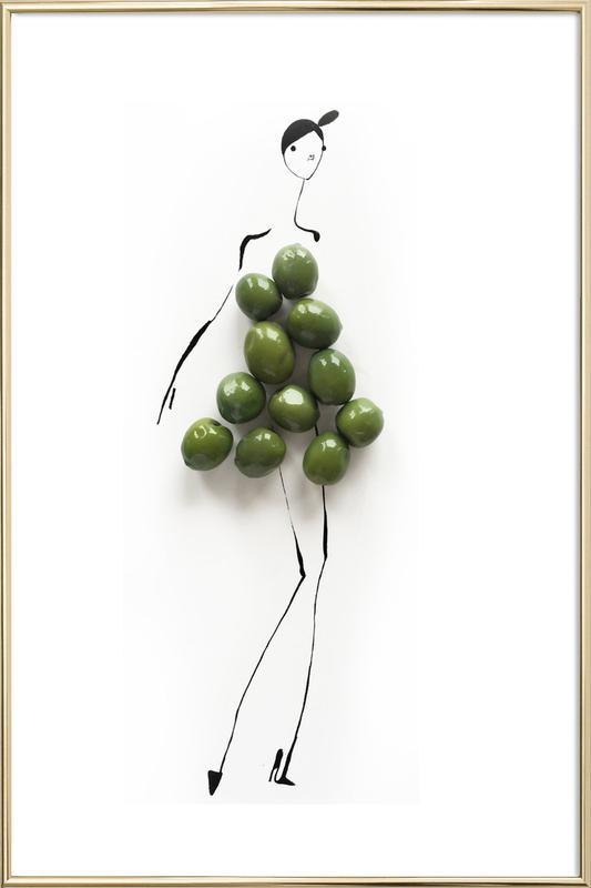 Olives Poster in Aluminium Frame
