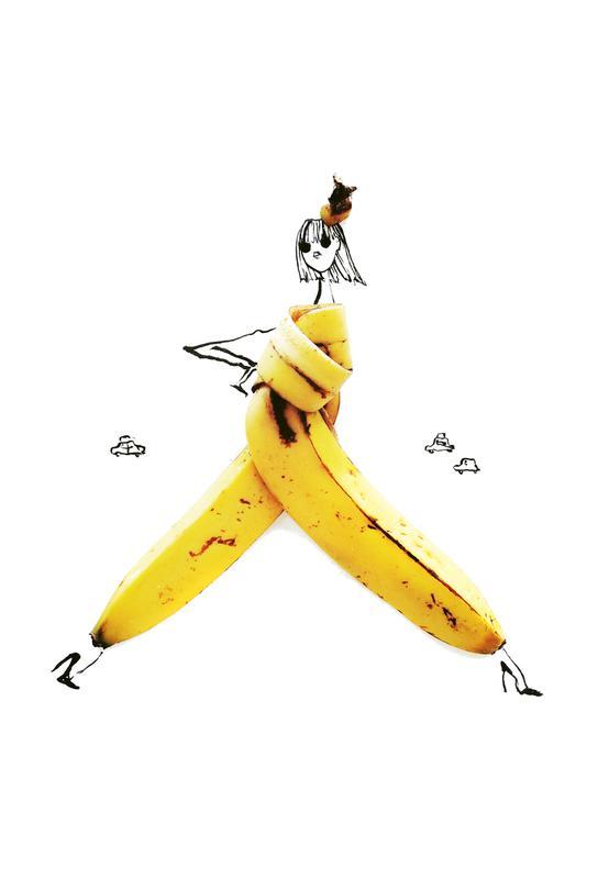 Banana acrylglas print