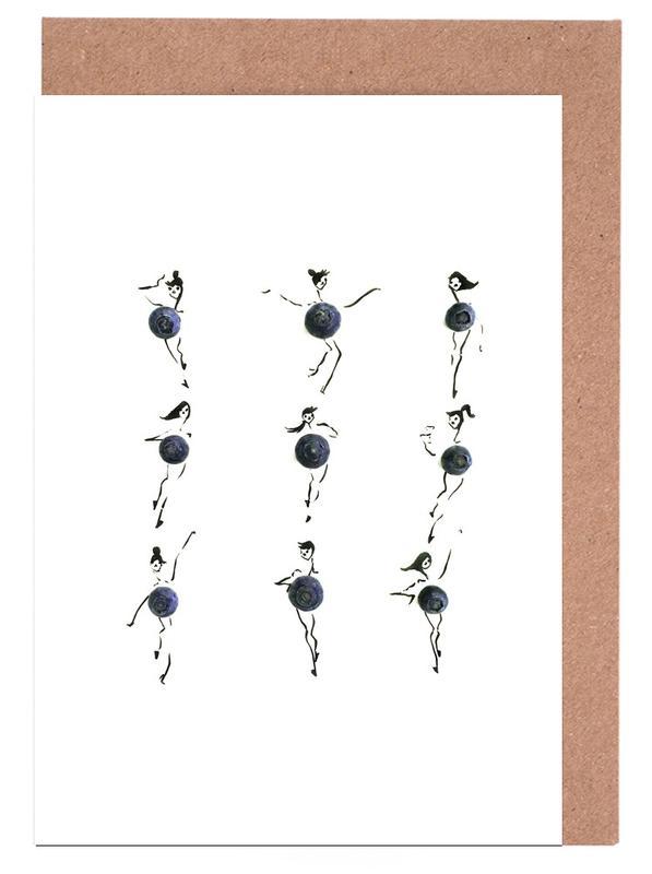 Blueberries Greeting Card Set