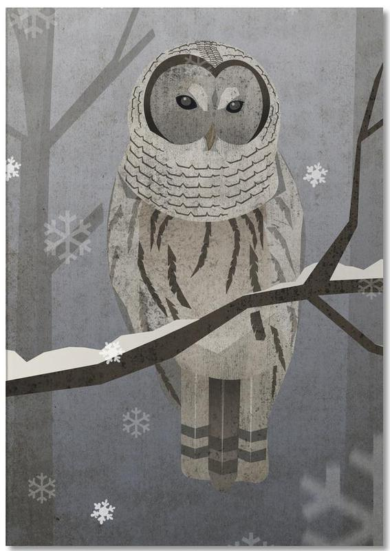 Schnee-Eule Notepad