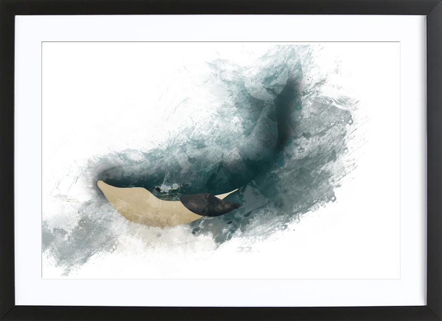 Wal ingelijste print