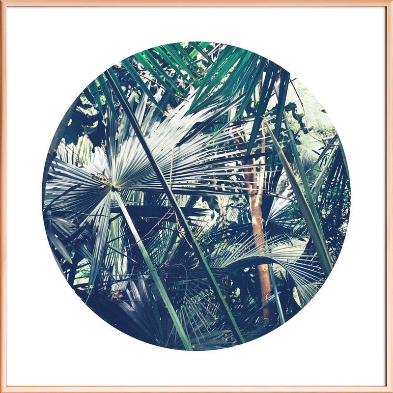 Into the Tropics (Green) Poster in Aluminium Frame