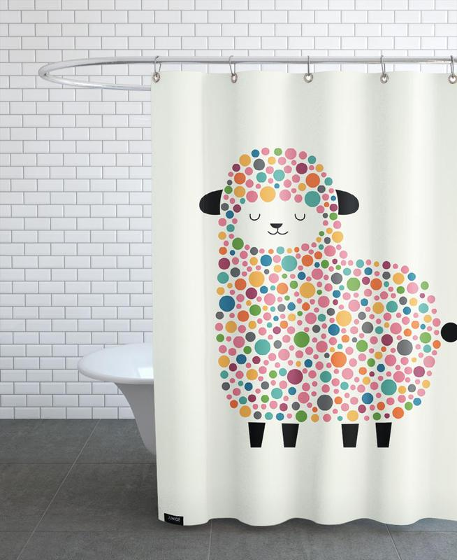 Bubble Sheep Shower Curtain