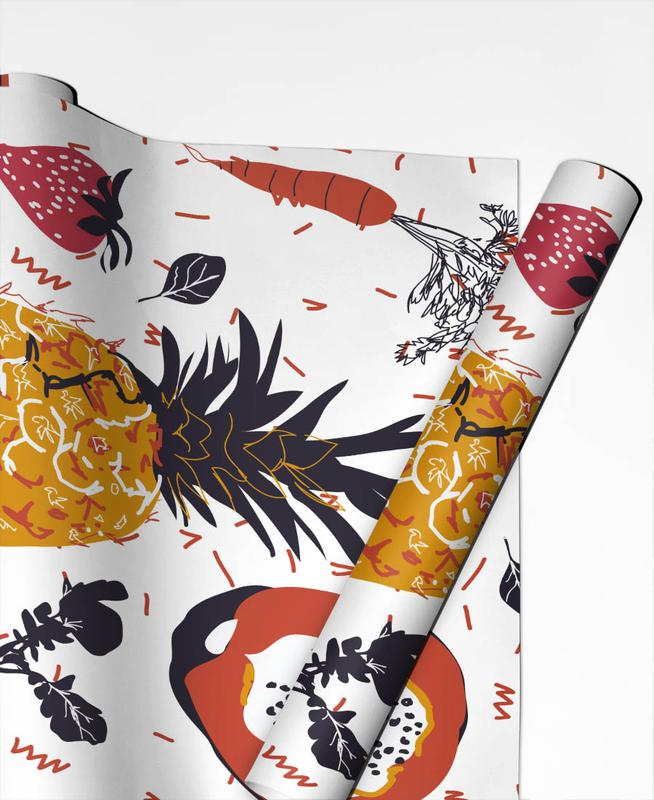 Fruit Veggie Party Gift Wrap