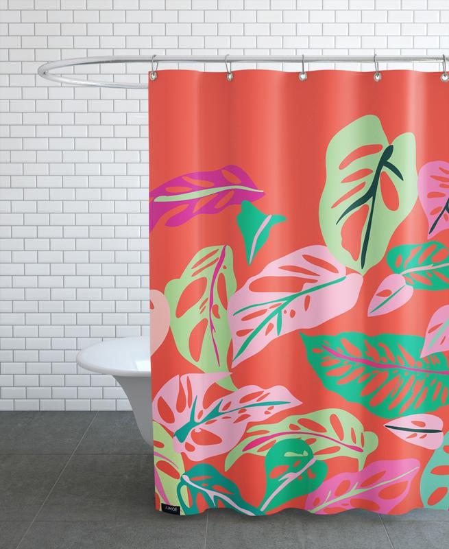 Monstera Obliqua Shower Curtain