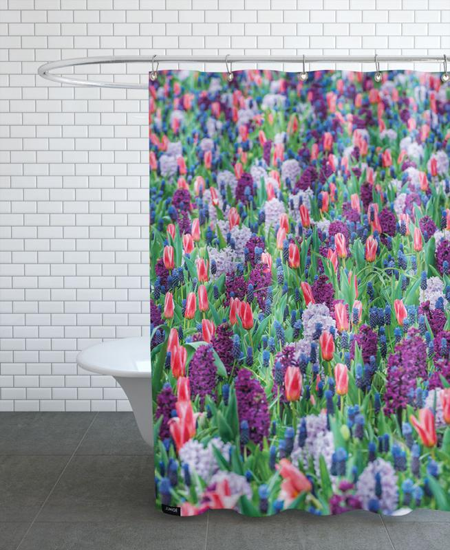 Tulip Field Purple Shower Curtain