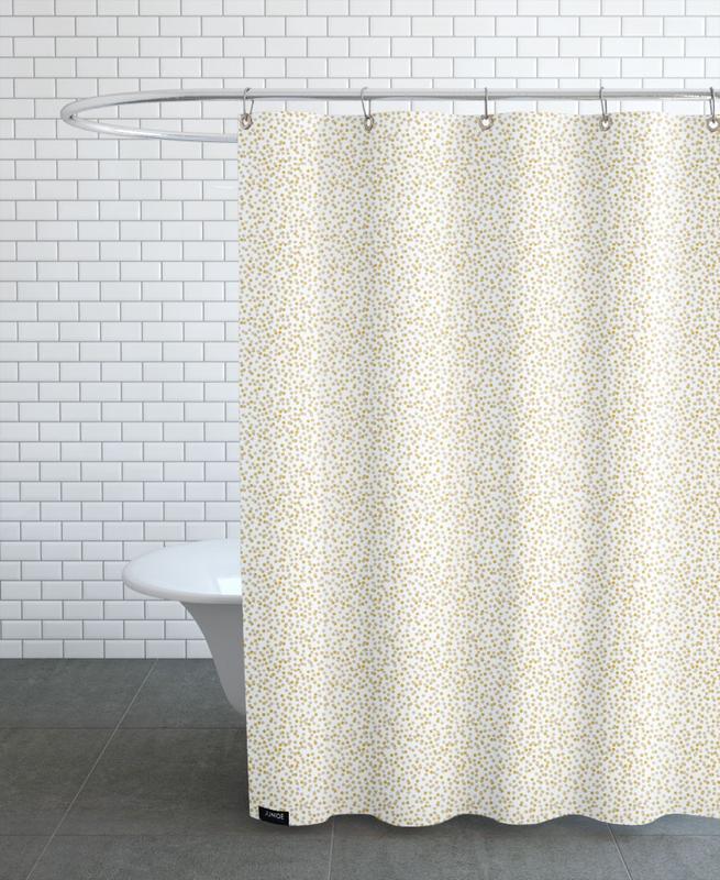 Gold Confetti Shower Curtain