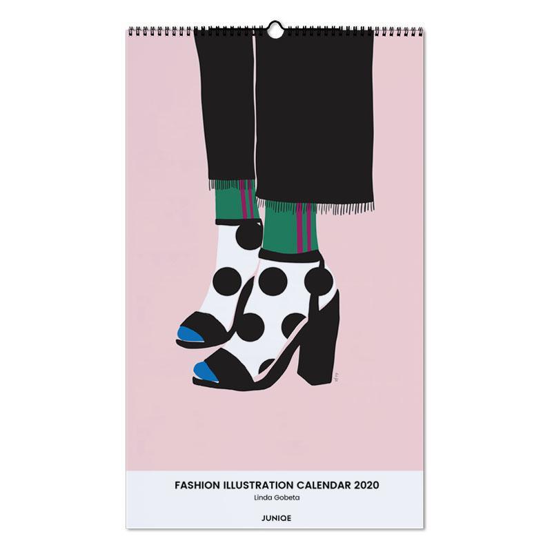 Fashion Illustration Calendar 2020 - Linda Gobeta -Wandkalender