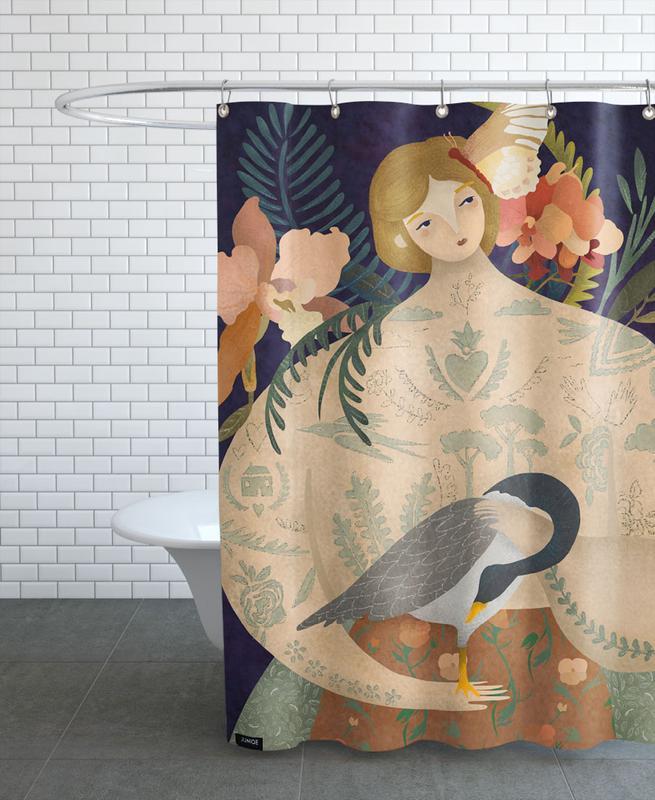 Wild Geese Lady -Duschvorhang
