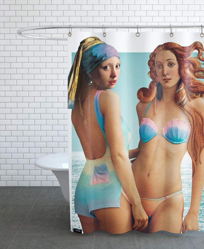 Beach Girls -Duschvorhang