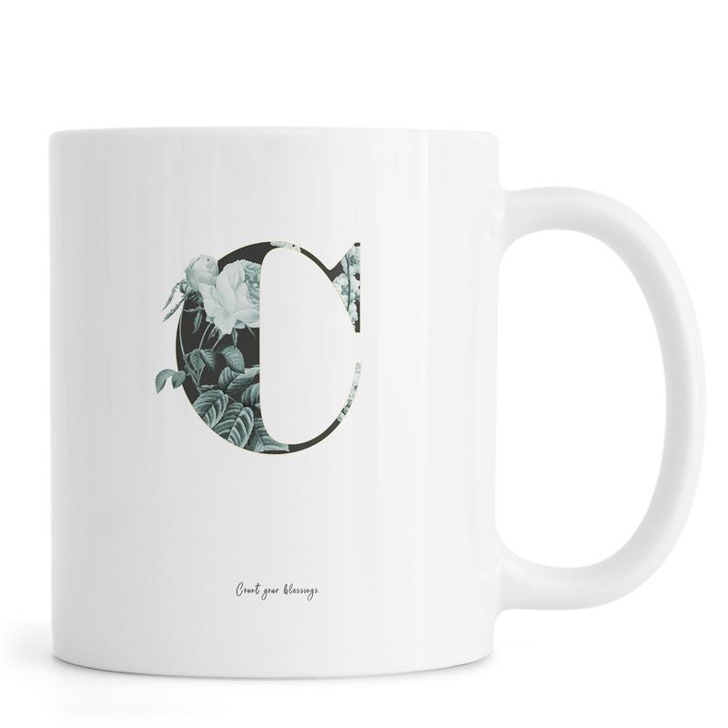 Flower Alphabet - C mug