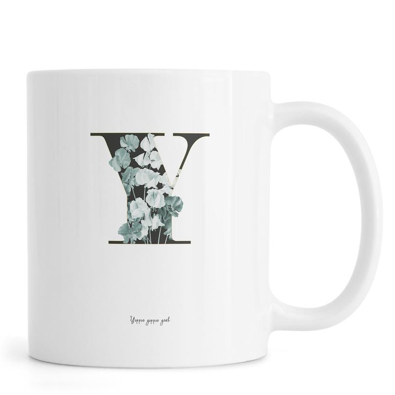 Flower Alphabet - Y -Tasse