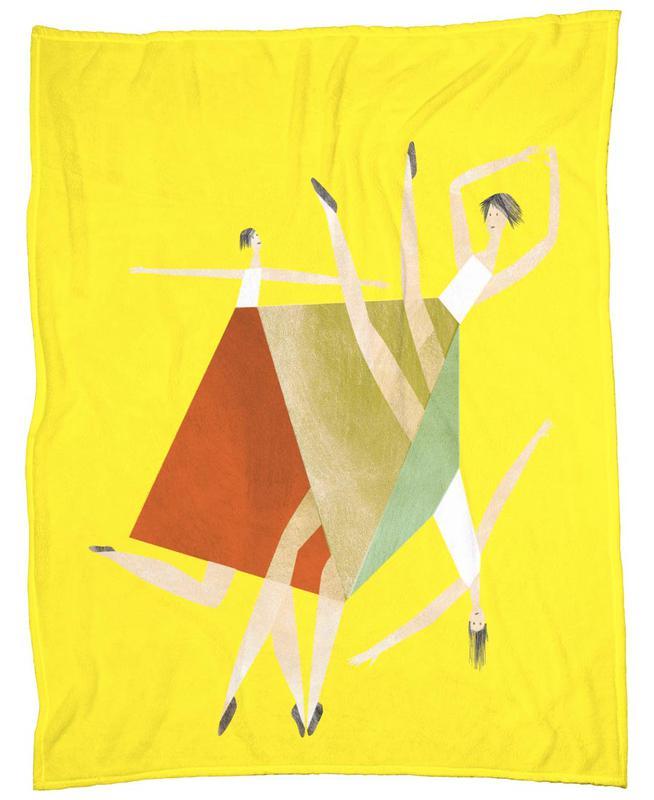 Dancing Yellow -Fleecedecke