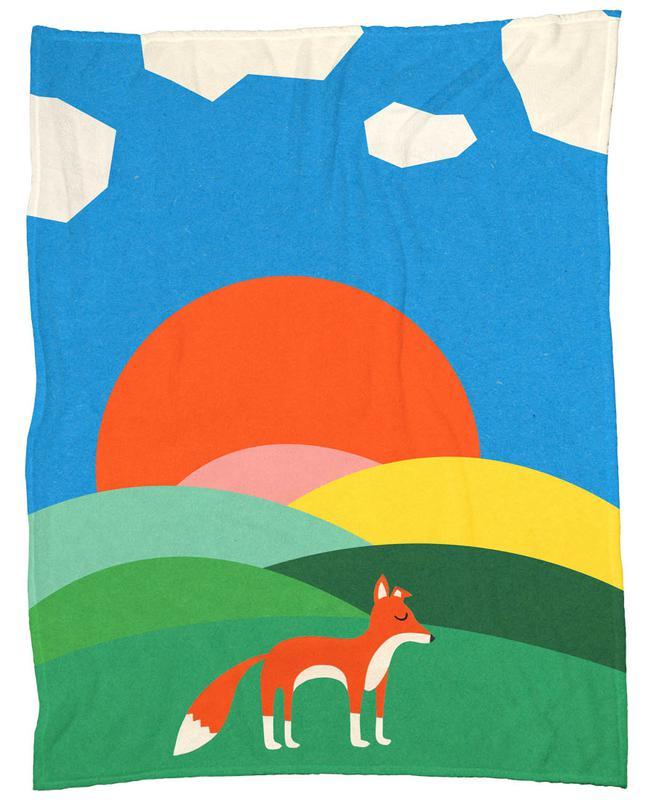 Fox and Field -Fleecedecke