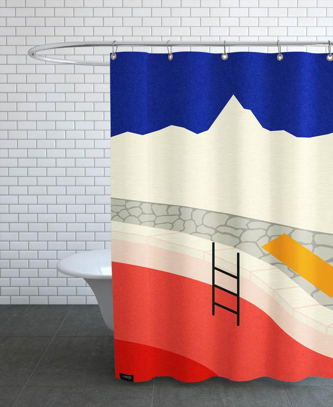Mountain Yoga Retreat Shower Curtain