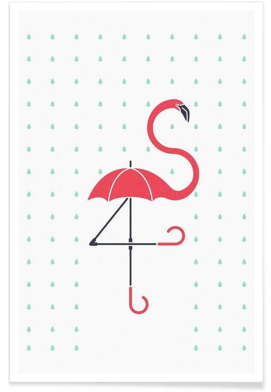 The Pink Umbrella Poster